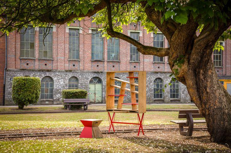 V_LAB Exxes Bureau Bookcase at Beringen Mine garden.
