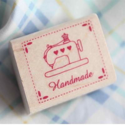 Sello madera Handmade maquina de coser