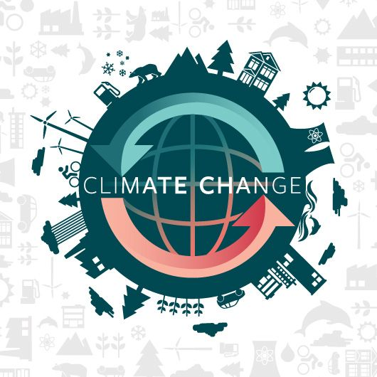 "The logo shows how the global problem, climate change, is going to affect the future. This links to ""past, present and/or future"" because it depicts how it's affecting us as well as the future."