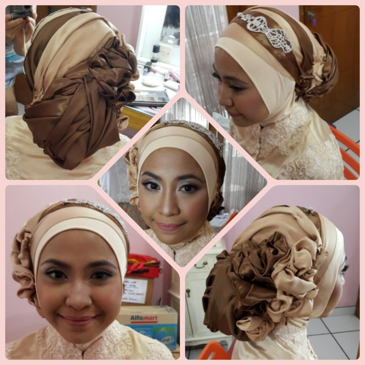Hijab created by me Make up by GCA production Theme is I'm ready for my graduation day
