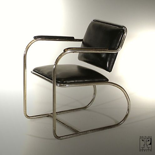 Cantilever streamline tubular steel armchair by Heinz and Bodo Rasch