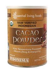 Essential Living Foods-FAIR TRADE Cacao Powder, RAW Indonesian, Organic (14oz Tin) $20
