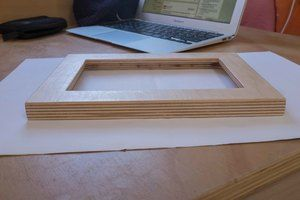 Picture frame made out of plywood