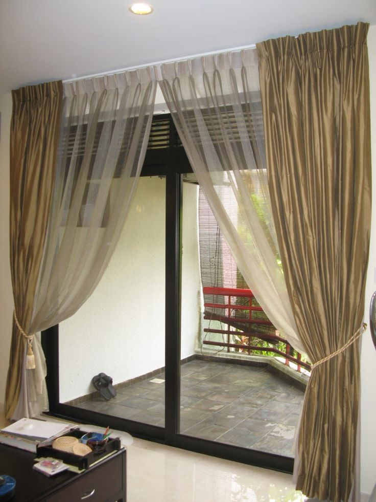 25 best ideas about sliding door curtains on pinterest