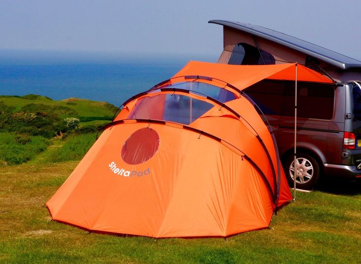 The Pod section can fold up to a simple canopy. If the sun is shining you can gather up the fabric in each section and clip it to the pole sleeves. http://thegadgetflow.com/portfolio/sheltapod-campervan-awning-adapts-weather/