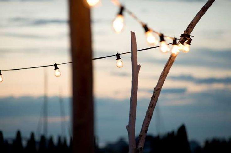 Illuminazione terrazzo - Lampadine appese