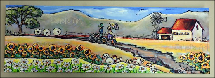 Flowers after the rain - Acrylic on stretched canvas -Janet's Art janet1bester@gmail.com