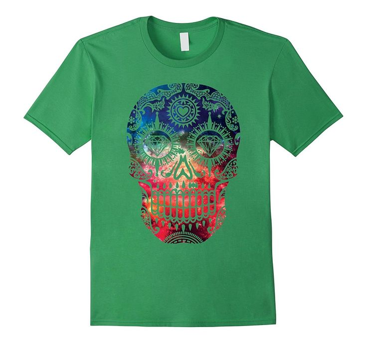 Day of Dead Galaxy Skull T-shirt Sugar Skull Shirt