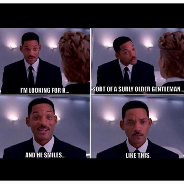 Men in Black III. My brother loves this part in the movie:)