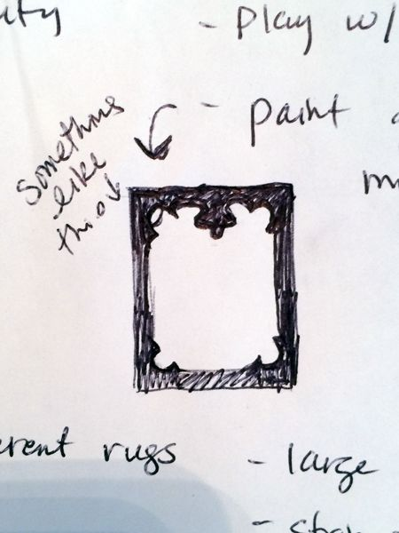 DIY- Frameless Mirror Gets Fancy