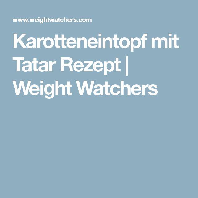 Karotteneintopf mit Tatar Rezept | Weight Watchers