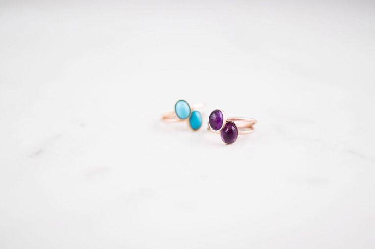 Turquoise or Amethyst gold rings... Decisions, decisions..