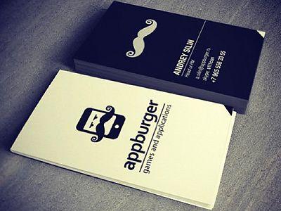 Appburger namecards by Evgenii Cheremnykh