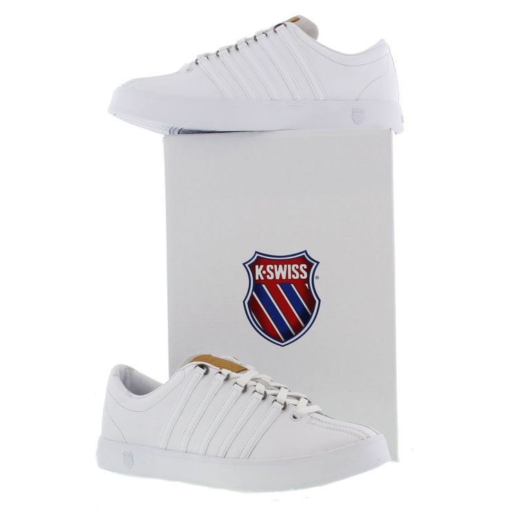 K-Swiss Shoes, Mens Classic II White White Gull Grey - £44.99