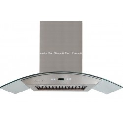 XtremeAIR 42 Inch Island Mount Range Hood with 900 CFM Centrifugal Blower, Stainless Steel Baffle Filters, Stainless Steel Oil CaptureTunnel, Ultra Quiet Dual Squirrel Cage Motor, 4 Speed Heat Touch Sensitive Electronic Control, LED Lighting System w/ LCD Display.  http://www.emoderndecor.com/xtremeair-42-inch-island-mount-stainless-steel-range-hood-px01-i42.html