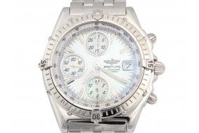Breitling Men's Stainless Steel Chronomat Watch #breitling #watches #watchhim  www.aaronscatering.com