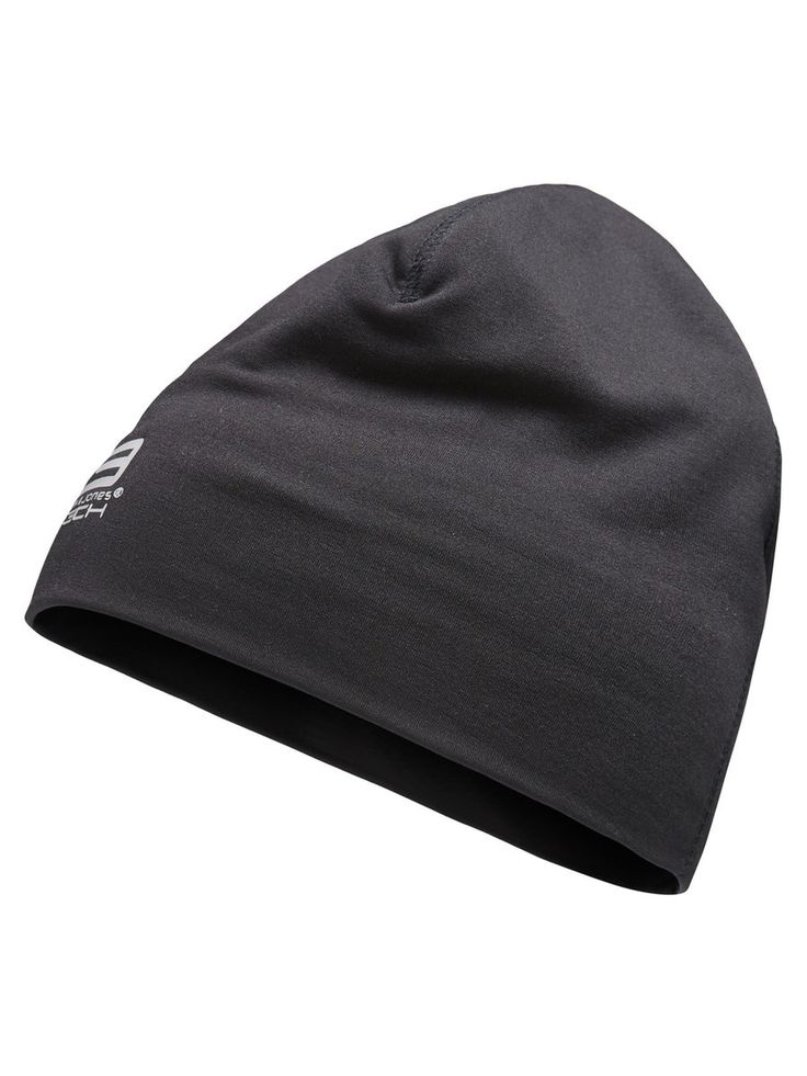Black training beanie with reflective logo, for running and outdoor activities   JACK & JONES #sportswear #sports #clothes #men