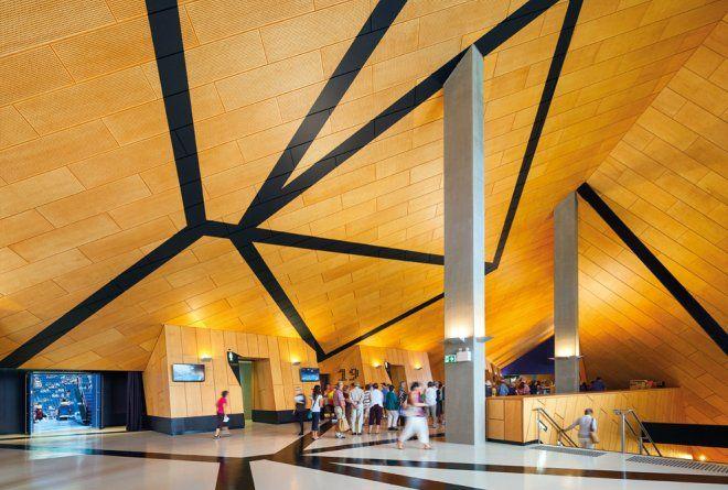 Axonometric projections create bold interior graphics