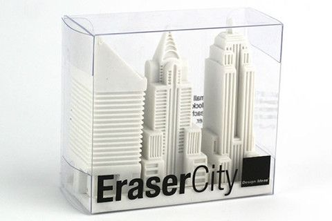 for all of those city sized mistakes - EraserCity New York Eraser