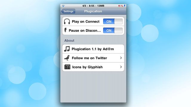 """""""Plugication Automatically Restarts Music on the iPhone When You Plug Headphones Back In"""" -- almost enough to make you jailbreak your iPhone.: Automat Restart, Iphone Apps, Iphone Ipad, Jailbreak, Restart Music, Iphone Info, Favorite Iphone, Plugs Headphones, Fav Iphone"""