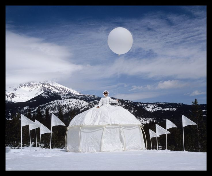 Conceived by artists Robin Lasser and Adrienne Pao, the Dress Tents  are wearable architectures, a conflation of fashion, photography, and performance art.