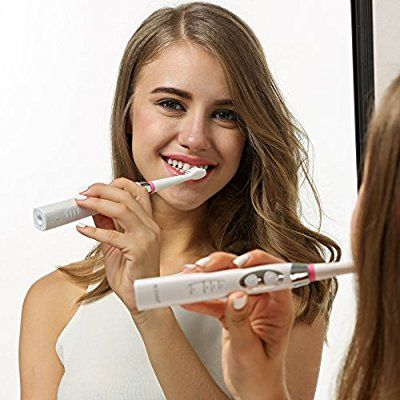 ACEVIVI SG-917 Elektrische Zahnbürste Schallzahnbürste Elektrozahnbürste Electric Toothbrush mit Schalltechnologie Tiefenreinigung Wiederaufladbar, 2 Minuten Timer, 3 Reinigungs-Modi, 3 Aufsteckbürsten Bürstenköpfe Weiß