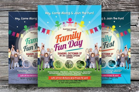 Check out Family Fun Day Flyers by kinzi21 on Creative Market