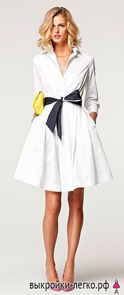 Платье-рубашка. Инструкция по распечатке выкроек и пошиву   Выкройки онлайн и уроки моделирования