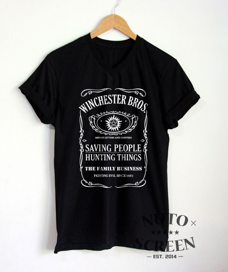 WINCHESTER BROTHERS SHIRT SUPERNATURAL V NECK T-SHIRT SAM DEAN SHIRTS CLOTHING #Unbranded #GraphicTee