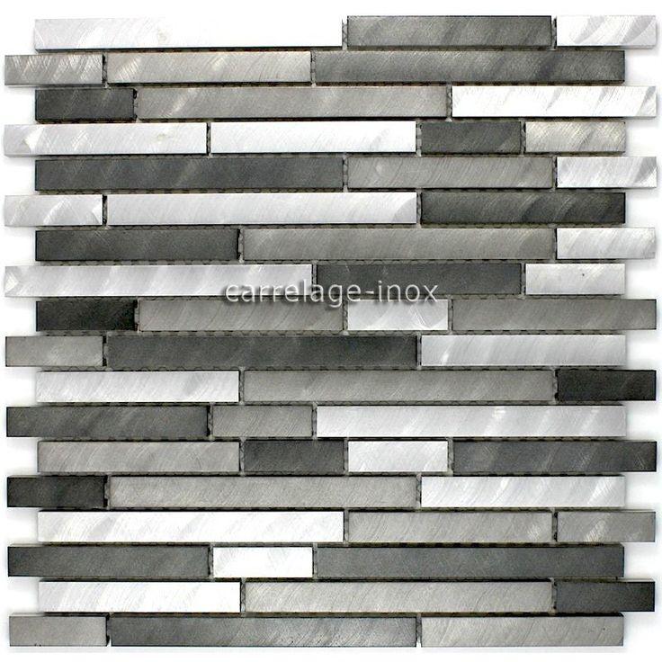 Mosaique Aluminium Mur De Douche Salle De Bain Alu Blend Gris