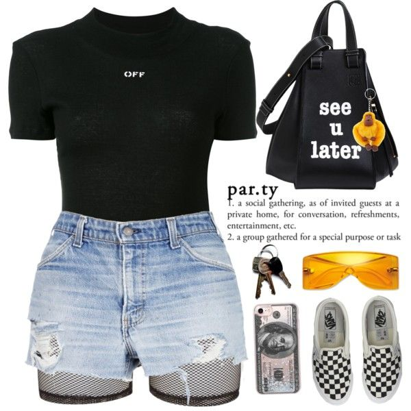 PASSIONFRUIT by queenbrittani on Polyvore featuring moda, Off-White, Bitching & Junkfood, Vans, Loewe, Casetify, Kipling and Michael Kors