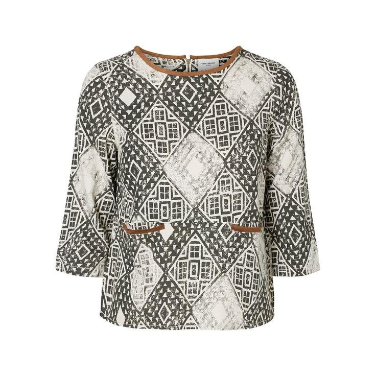 Блузка с рисунком, рукава 3/4 Vero Moda (веро мода) | купить в интернет-магазине La Redoute