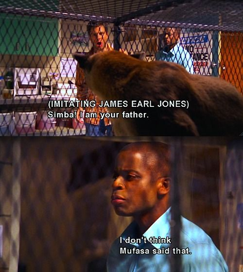 Psych! It's funny cause James earl jones was the voice of mufasa and dearth vader!