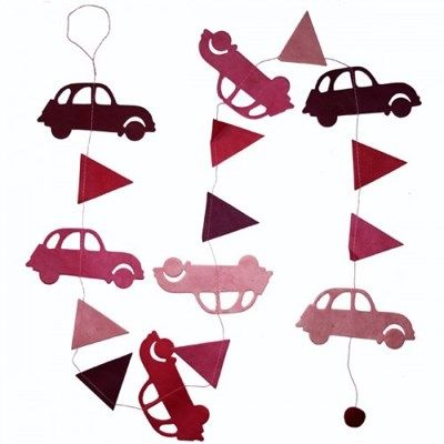 Hanger Auto's Bordeaux Roze