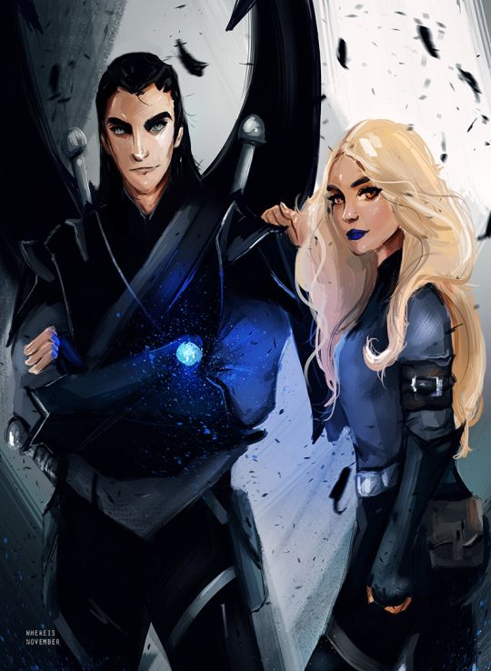 I can't stop looking at this awesome pic of Az and Mor by whereisnovember