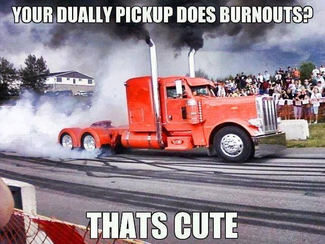 Gotta love the pickup big rig boys