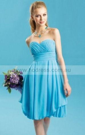 Chiffon Sweetheart Empire A-line Short Bridesmaid Dresses 0740129