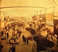 the interior of the Doncaster Shoppingtown in Doncaster, Victoria, Australia in the 1960's-70's, as found in an issue of the Reader's Digest 1974