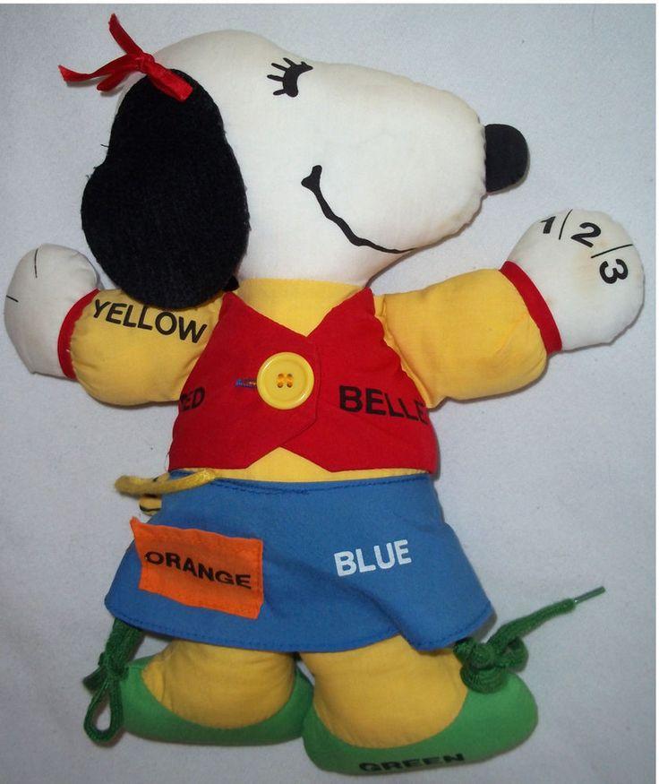 Vintage Snoopy Girlfriend BELLE & Woodstock 1968 Dress Up Learning Stuffed Doll