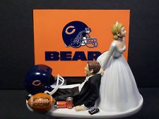 Chicago Bears Groom's Cake | CHICAGO BEARS FOOTBALL WEDDING CAKE TOPPER FUNNY SPORTS BRIDE AND ...