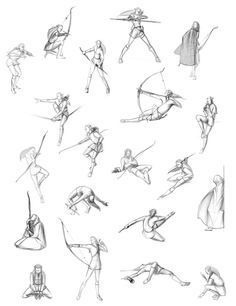 archery poses drawing - Google Search