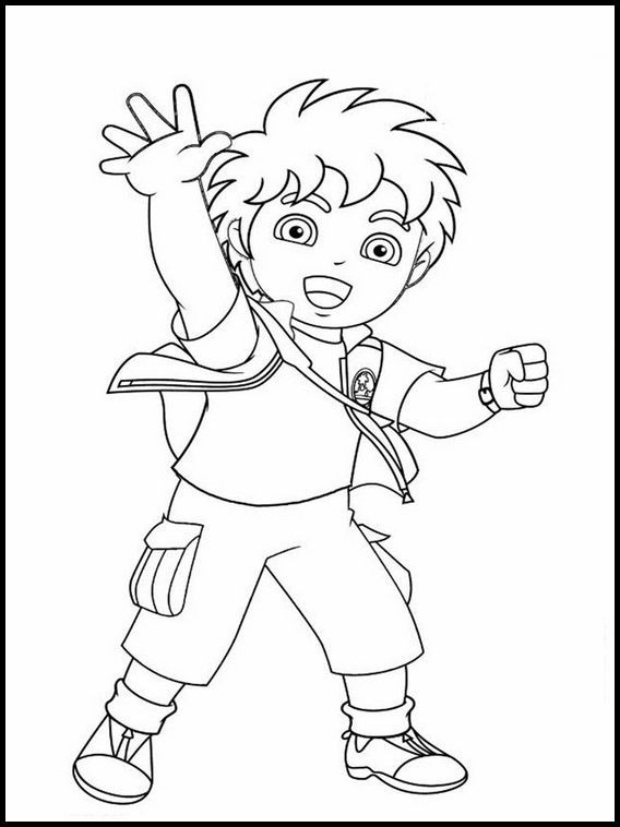 Printable Coloring Pages For Kids Go Diego Go 29 En 2020