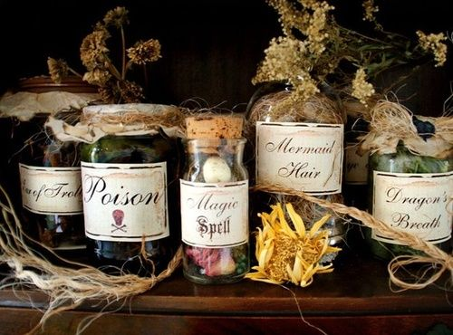 potions: Halloween Decorations, Holiday, Idea, Potion Labels, Halloween Potion, Ingredient Labels Stickers, Potions