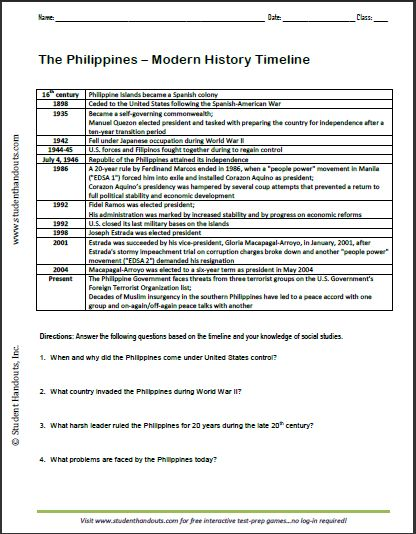 Worksheets Free World History Worksheets 1000 images about world history on pinterest ancient rome the philippines modern timeline worksheet important events in filipino history