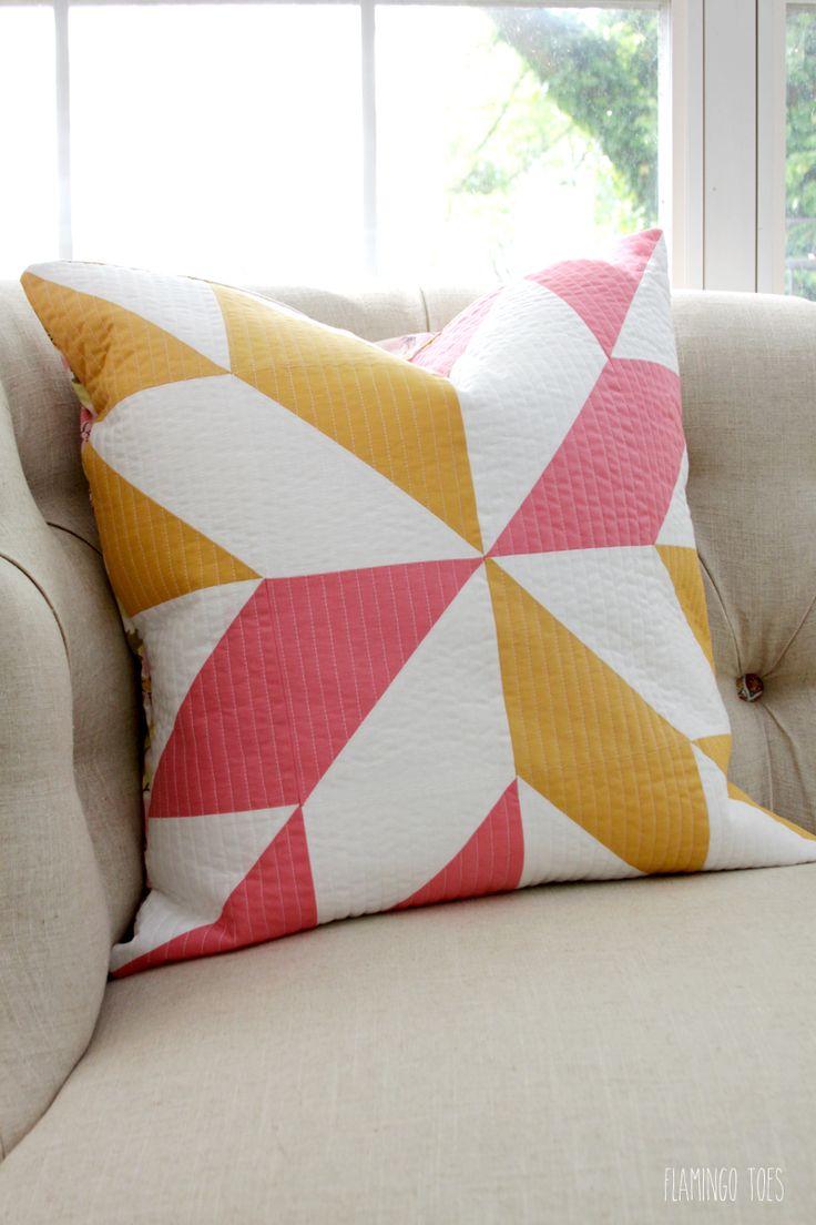 Half Square Triangle Pillow (scheduled via http://www.tailwindapp.com?utm_source=pinterest&utm_medium=twpin&utm_content=post77858026&utm_campaign=scheduler_attribution)