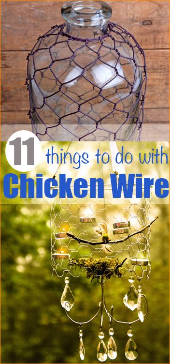 11 Things to do with Chicken Wire. Get crafty with these great ideas. Chicken wire isn't just for housing chicks!