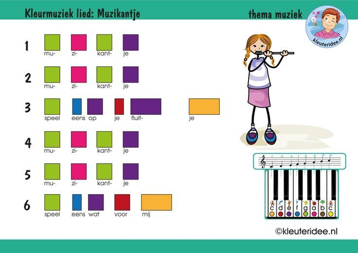 Bladmuziek voor kleuters, Muzikantje speel eens op je fluitje, thema muziek, kleuteridee, free download