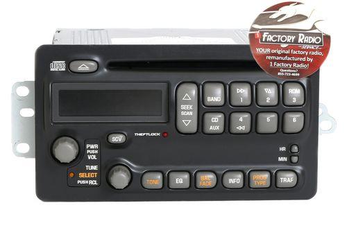 Remanufacture SERVICE for 2003-2005 Pontiac Aztek Montana AM FM CD Player Radio