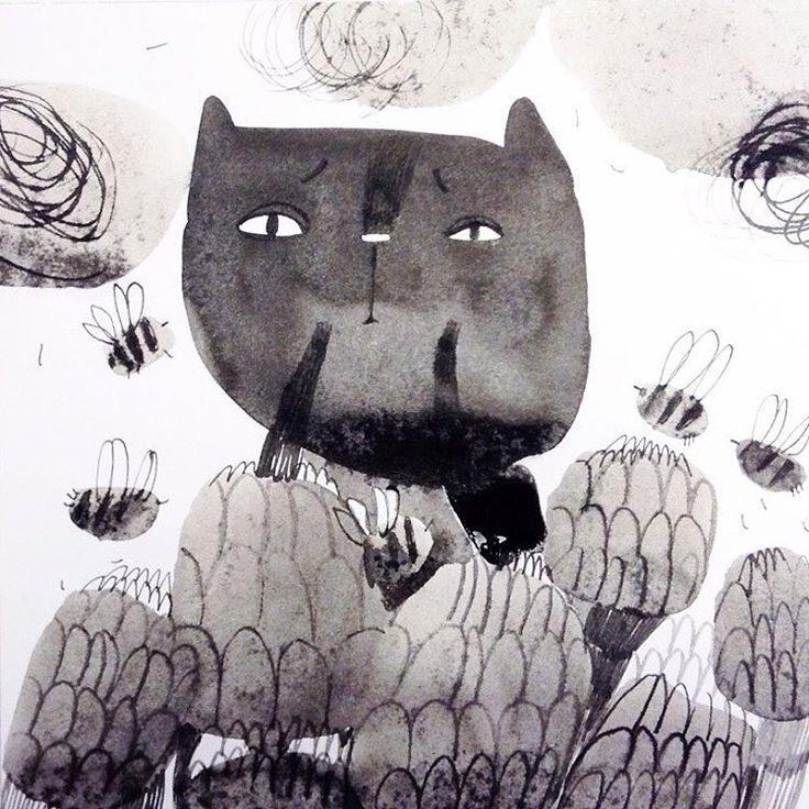 День 12. Стурбованість/Worried ☁️ #illustration #draw #ink #inkillustration #inktober2016 #inktober #teawithrosejam