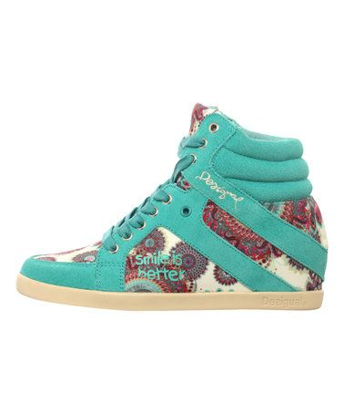 Love this Turquoise Wedge Sneaker on #zulily! #zulilyfinds